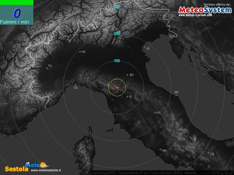 Fulminazioni Emilia Romagna e Nord Italia